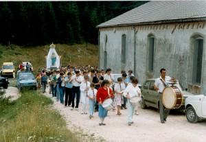 Banda alla Processione della Madonna di Monte Summano, 25 Agosto 1985