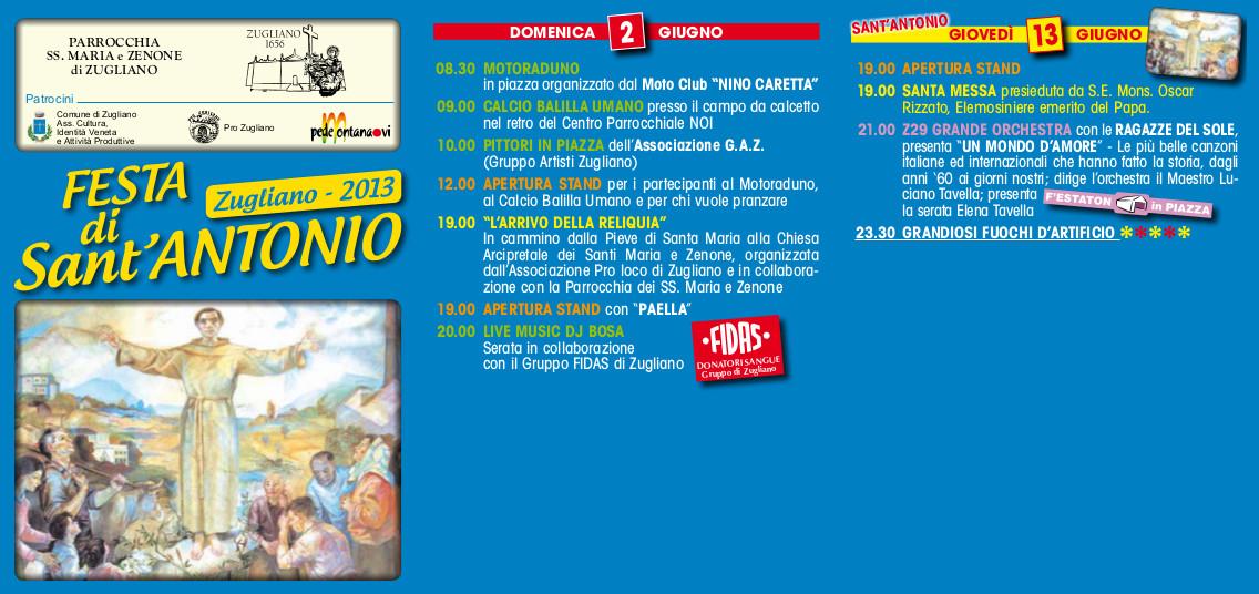 Programma S. Antonio 2013