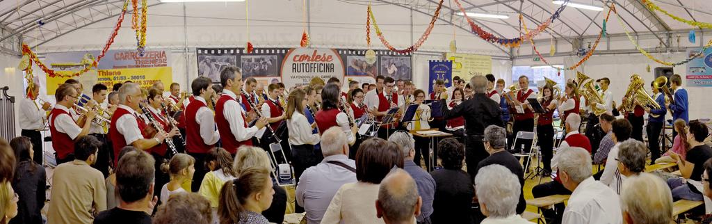 Banda Cittadina Comunale di Arsiè e Corpo Bandistico di Centrale alla rassegna bandistica della Festa del Voto 2013, Domenica 15 Settembre 2013