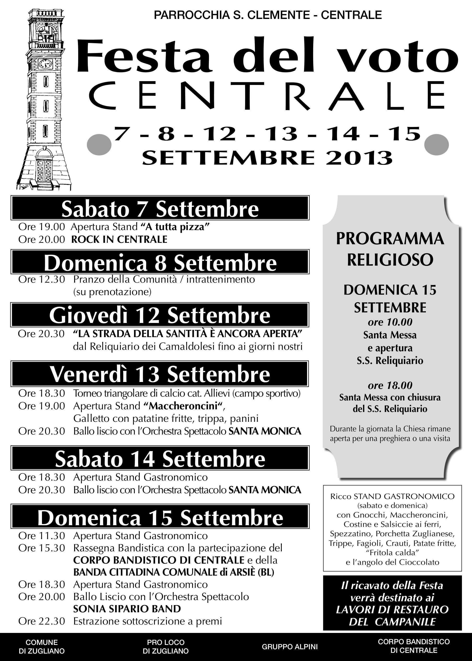 Programma Festa del Voto 2013