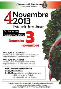 Locandina 4 Novembre 2013