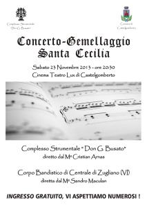 Locandina Concerto di S. Cecilia 2013 a Castelgomberto