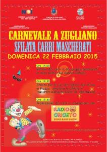 Locandina Carnevale a Zugliano - 22 Febbraio 2015