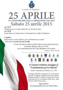Locandina 25 aprile 2015